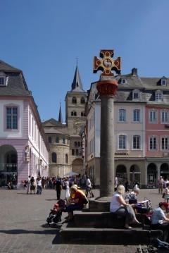 Marktkreutz, Hauptmarkt, Trier, Vest-Tyskland, Tyskland