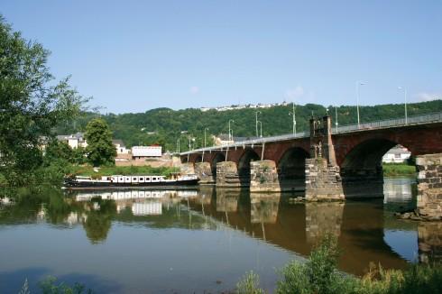 Römerbrücke, Trier, Vest-Tyskland, Tyskland