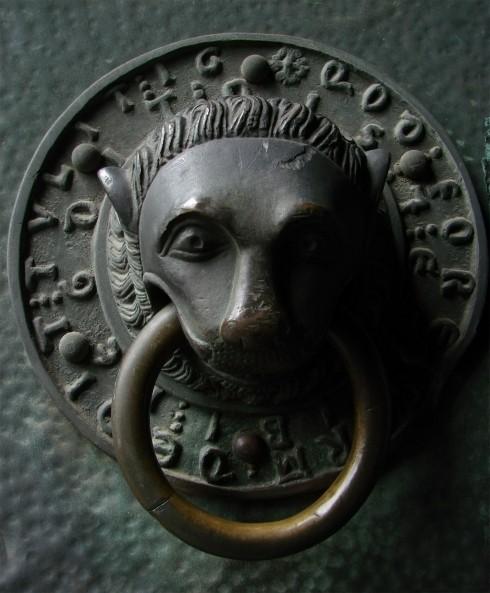Katedralens dørhåndtak, Trier, Vest-Tyskland, Tyskland