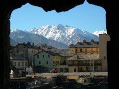 Teatro romano, Aosta, Valle d'Aosta, Nord-Italia, Italia