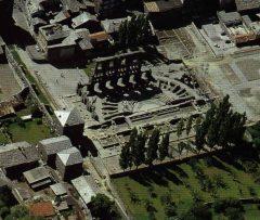 Det romerske teateret, Aosta, Valle d'Aosta, Nord-Italia, Italia