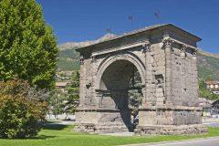 Porta Augusta, Aosta, Valle d'Aosta, Nord-Italia, Italia