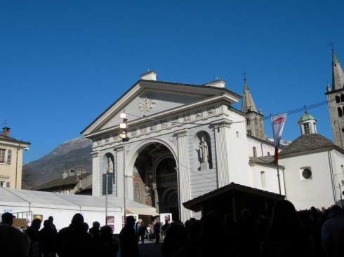 Katedral, Santa Maria Assunta, Aosta, Valle d'Aosta, Nord-Italia, Italia