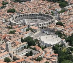 Gamlebyen i Arles med amfiteater og teater, Unesco, Arles, Provence, Sør-Frankrike, Frankrike