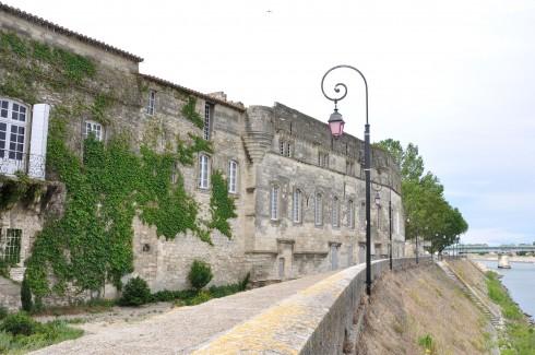 Rhône, quai, Arles, Provence, Sør-Frankrike, Frankrike