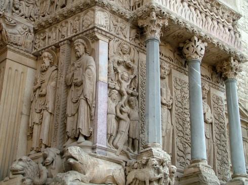 St.-Trophime, fasade, Arles, Provence, Sør-Frankrike, Frankrike