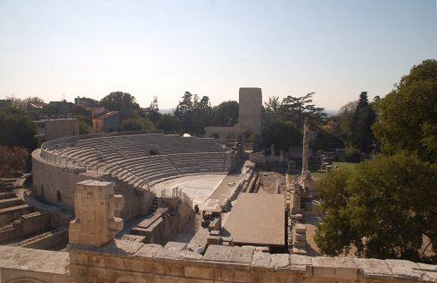 Teateret fra romertid, Arles, Provence, Sør-Frankrike, Frankrike