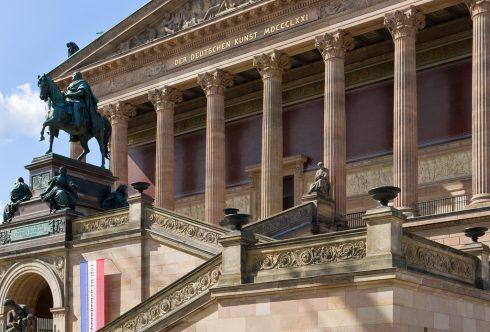 Alte Nationalgalerie, Berlin, Unesco Verdensarv, Museumsinsel, Brandenburger Tor , Øst-Tyskland, Tyskland