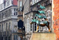 Musikantene i Bremen, Bremen, Unesco, Altstadt, Historisk,Middelalder, Marktplatz, Nord-Tyskland, Tyskland