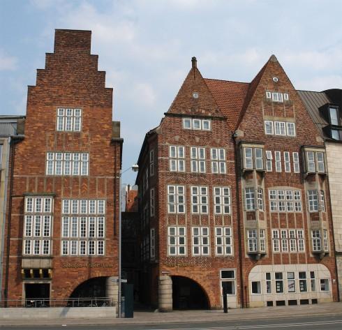 Böttcherstraße, Bremen, Altstadt, Historisk,Middelalder, Marktplatz, Nord-Tyskland, Tyskland
