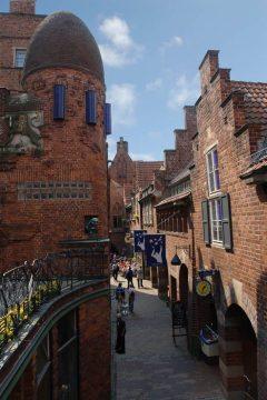 Bötscherstrasse, Bremen, Unesco, Altstadt, Historisk,Middelalder, Marktplatz, Nord-Tyskland, Tyskland