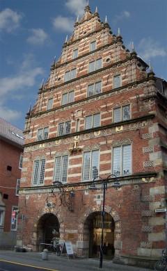 Stadwaage fra år 1587 i typisk Weser-renessansestil, Bremen, Unesco, Altstadt, Historisk,Middelalder, Marktplatz, Nord-Tyskland, Tyskland