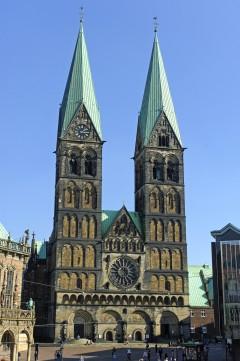 den mektige Dom-Kirche, Bremen, Unesco, Altstadt, Historisk,Middelalder, Marktplatz, Nord-Tyskland, Tyskland