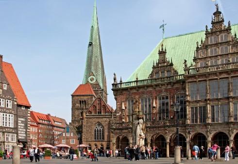 Bremen, Altstadt, Historisk,Middelalder, Marktplatz, Nord-Tyskland, Tyskland