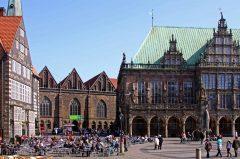 Bremen, Unesco, Altstadt, Historisk,Middelalder, Marktplatz, Rathaus, Weser-renessanse Nord-Tyskland, Tyskland
