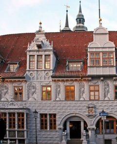 Rathaus, renessanse, Celle, Nord-Tyskland, Tyskland