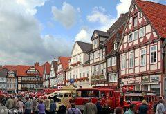 Veteranbiltreff, Markt,  Celle, Nord-Tyskland, Tyskland