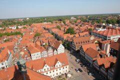 Panorama Altstadt, Celle, Nord-Tyskland, Tyskland