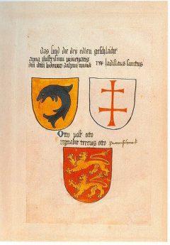 Otto III den Striktes våpen er avbildet i Ingeram Codex fra år 1459, Celle, Nord-Tyskland, Tyskland
