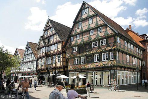 Hoppener-Haus år 1532, Celle, Nord-Tyskland, Tyskland