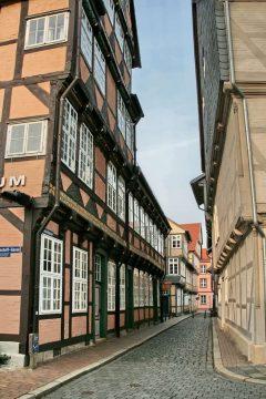 Middelaldersmuget Kalandgasse, Celle, Nord-Tyskland, Tyskland