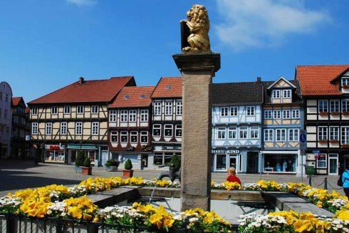 Markt, Celle, Nord-Tyskland, Tyskland