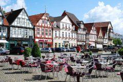 Markt, Celles historisk bykjerne, Celle, Nord-Tyskland, Tyskland