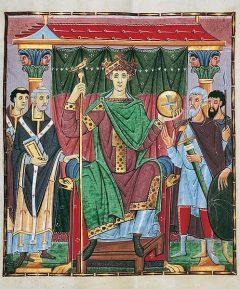 Portrett av Otto III. den Strikte av Reichenauermesteren, Celle, Nord-Tyskland, Tyskland