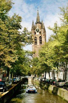Oude Kerk, Delft, Zuid-Holland, Sør-Nederland, Nederland