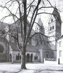 Middelalderkirken St. Suibertus, Altstadt, Düsseldorf, Nordrhein-Westfalen, Vest-Tyskland, Tyskland