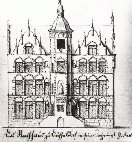 Rathaus, Altstadt, Düsseldorf, Nordrhein-Westfalen, Vest-Tyskland, Tyskland