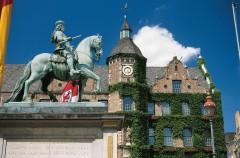 Rathaus, Jan Wellem, Altstadt, Düsseldorf, Nordrhein-Westfalen, Vest-Tyskland, Tyskland