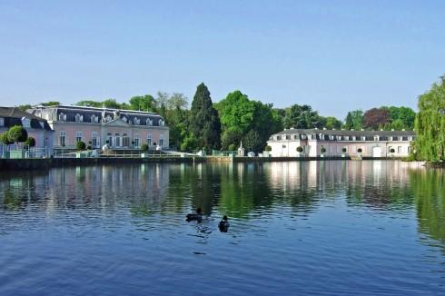 Schloss Benrath, Düsseldorf, Nordrhein-Westfalen, Vest-Tyskland, Tyskland