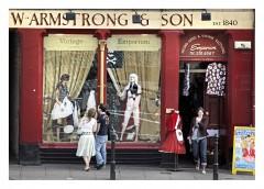 Grassmarket store, Edinburgh, Skottland, Storbritannia