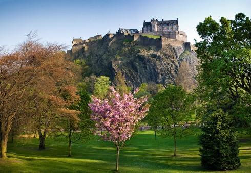 Castle Hill, Edinburgh, Skottland, Storbritannia