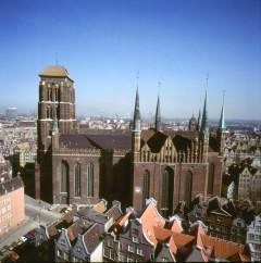 Maria-kirken, Gdansk, gamlebyen Stare Miasto, nybyen Glowne Miasto, markedsplass en Dlugi Targ, Ulica Dluga, historisk bydel, middelalder, Nord-Polen, Polen