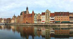 havne-kanalen, Gdansk, gamlebyen Stare Miasto, nybyen Glowne Miasto, markedsplass en Dlugi Targ, Ulica Dluga, historisk bydel, middelalder, Nord-Polen, Polen