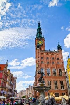 Rådhuset, Gdansk, gamlebyen Stare Miasto, nybyen Glowne Miasto, markedsplass en Dlugi Targ, Ulica Dluga, historisk bydel, middelalder, Nord-Polen, Polen