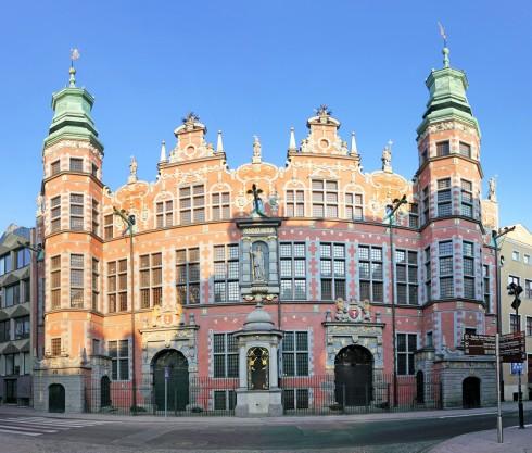 Arsenalet, Gdansk, gamlebyen Stare Miasto, nybyen Glowne Miasto, markedsplass en Dlugi Targ, Ulica Dluga, historisk bydel, middelalder, Nord-Polen, Polen