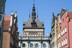 Den gylne porten,  Stockturm, Gdansk, gamlebyen Stare Miasto, nybyen Glowne Miasto, markedsplass en Dlugi Targ, Ulica Dluga, historisk bydel, middelalder, Nord-Polen, Polen