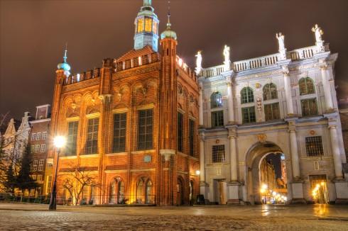 Den gylne porten, Georgs-hallen, Gdansk, gamlebyen Stare Miasto, nybyen Glowne Miasto, markedsplass en Dlugi Targ, Ulica Dluga, historisk bydel, middelalder, Nord-Polen, Polen
