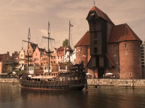 Havne- og Marinemuseet, Gdansk, gamlebyen Stare Miasto, nybyen Glowne Miasto, markedsplass en Dlugi Targ, Ulica Dluga, historisk bydel, middelalder, Nord-Polen, Polen