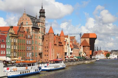 Havnepromenaden, Gdansk, gamlebyen Stare Miasto, nybyen Glowne Miasto, markedsplass en Dlugi Targ, Ulica Dluga, historisk bydel, middelalder, Nord-Polen, Polen