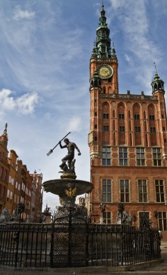 Rådhus, Ratus, Gdansk, gamlebyen Stare Miasto, nybyen Glowne Miasto, markedsplass en Dlugi Targ, Ulica Dluga, historisk bydel, middelalder,  Nord-Polen, Polen