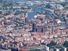 Motlawa, Gdansk, gamlebyen Stare Miasto, nybyen Glowne Miasto, markedsplass en Dlugi Targ, Ulica Dluga, historisk bydel, middelalder,  Nord-Polen, Polen