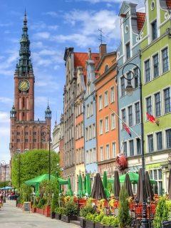 Ratus, rådhus, Gdansk, gamlebyen Stare Miasto, nybyen Glowne Miasto, markedsplass en Dlugi Targ, Ulica Dluga, historisk bydel, middelalder, Nord-Polen, Polen
