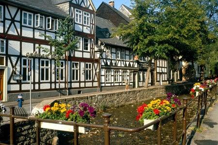 Kanal, Goslar, Nieder-Sachsen, Unesco Verdensarv, Altstadt, Historisk, Middelalder, Hauptmarkt, Nord-Tyskland, Tyskland