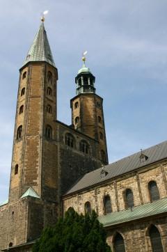 Marktkirche St Cosmas und Damian, Goslar, Nieder-Sachsen, Unesco Verdensarv, Altstadt, Historisk, Middelalder, Markt, Nord-Tyskland, Tyskland