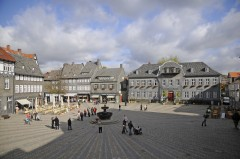 Marktbrunnen, Goslar, Nieder-Sachsen, Unesco Verdensarv, Altstadt, Historisk, Middelalder, Markt, Nord-Tyskland, Tyskland