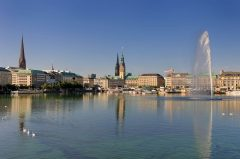 Hamburg, Alster-arkadene, Altstadt, Unesco Verdensarv, Speicherstadt, Kunsthalle, Nord-Tyskland, Tyskland